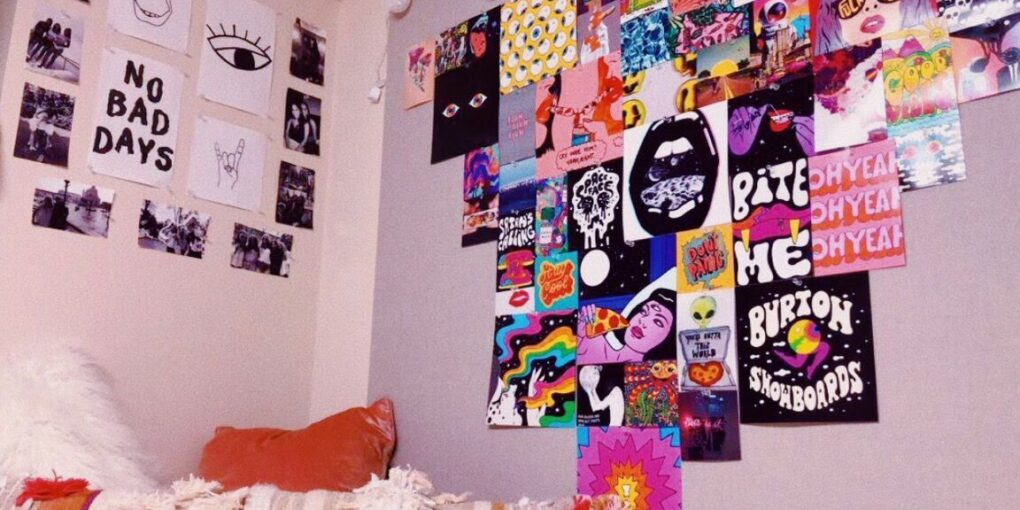 room with posters