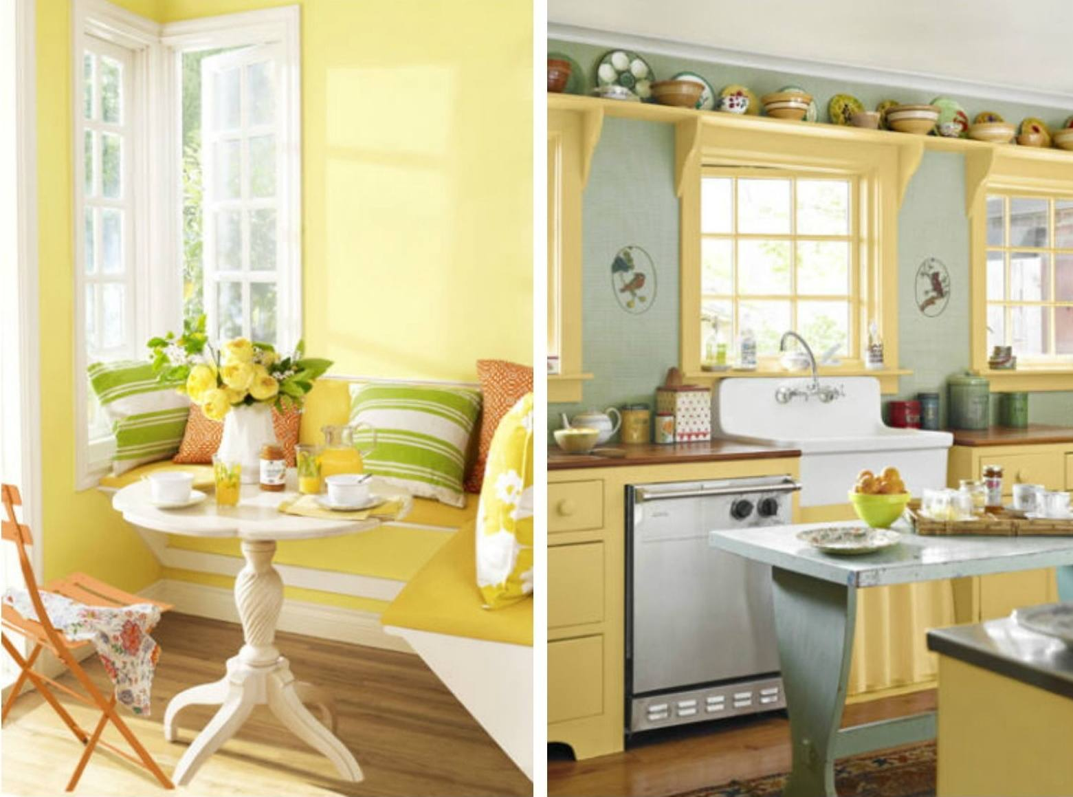 The retro pop kitchen yellow