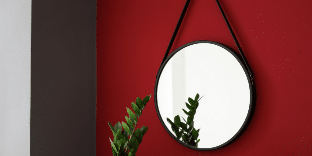 DIY Frameless Mirror Hanging Project without Using Clips
