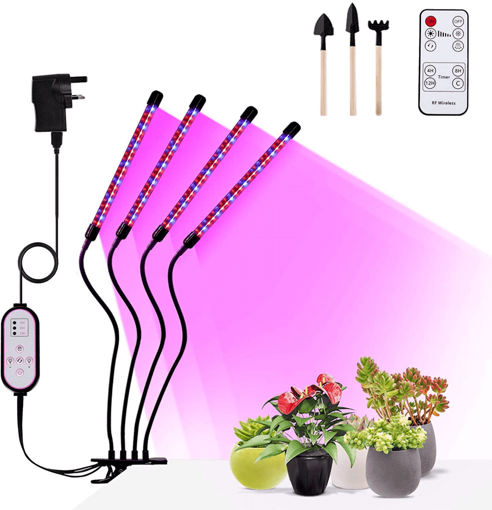 Adjustable LED Grow Lights for Indoor Trees with a Timer