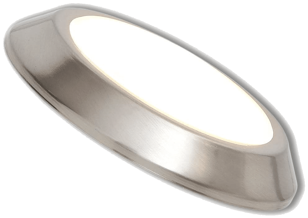 New Round Flush Hamilton Hills Mount Ceiling Thin Light LED Disc Shaped Dimmable Lighting Thinnest Round Fixture